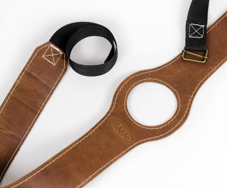 Leather gas tank strap for Royal Enfield