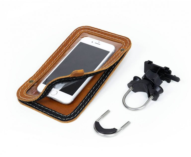 Leather cellphone mount